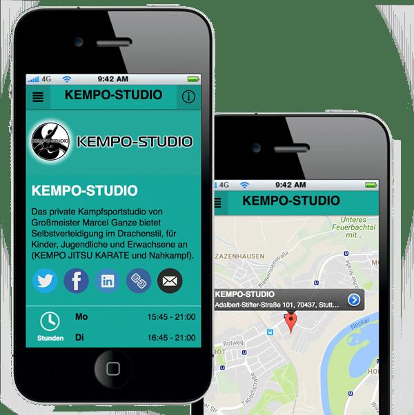 Handy mit KEMPO-STUDIO APP