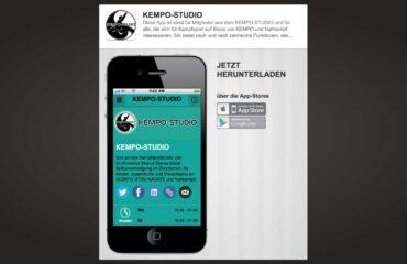 Landingpage-KEMPO-STUDIO-APP